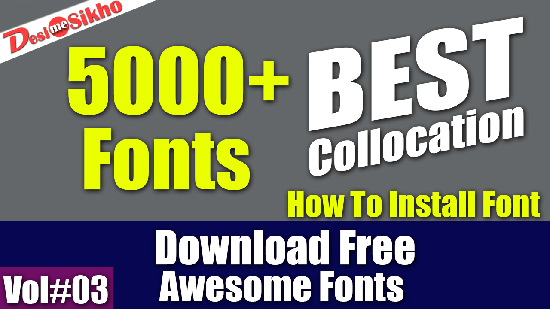 5000+ Best Font Collocation Download Free Vol#3<span class=