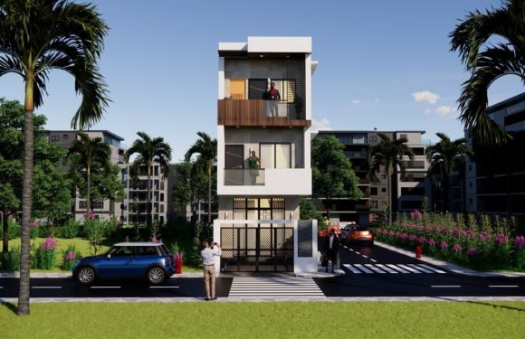 14×45 Morden House Design With 4 Bedroom Complete Details