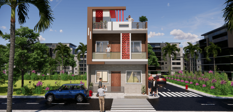 Small House 20X25 Feet With 3 Bedroom Each Floor Complete Details
