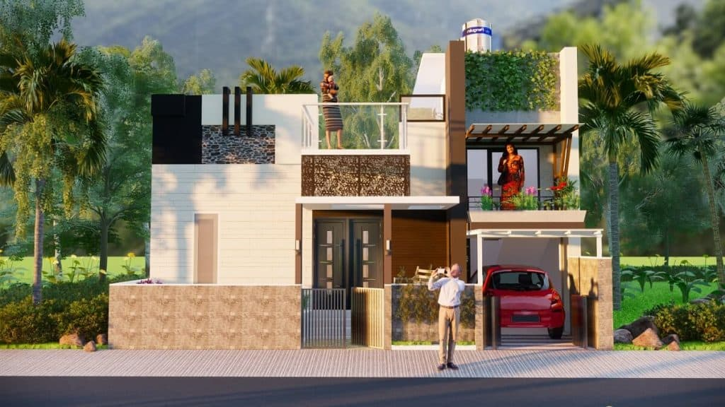 30x40 Feet House Design With Two Bedroom