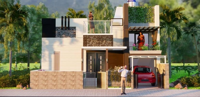 30X40 Feet Small Space House Design 2bhk With Front Elevation 1200 sqf Complete Details